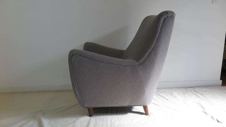 Italian Gio Ponti Style Lounge Chair For Sale 2