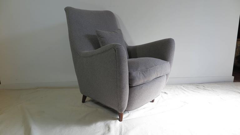 Italian Gio Ponti Style Lounge Chair For Sale 4