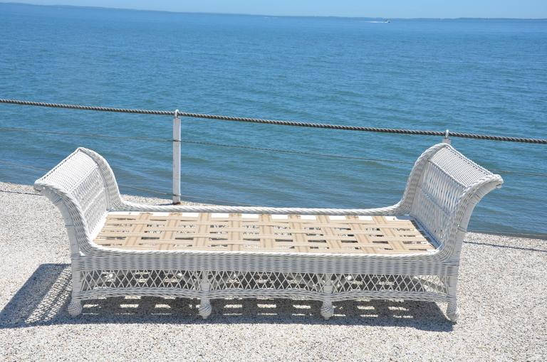 American Antique Bar Harbor Wicker Bed For Sale