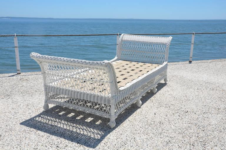 Antique Bar Harbor Wicker Bed For Sale 1