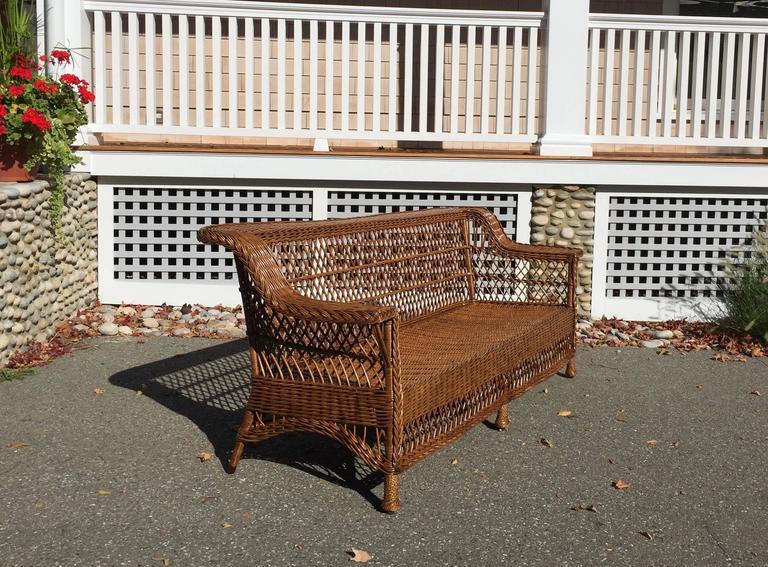 American Antique Bar Harbor Wicker Sofa