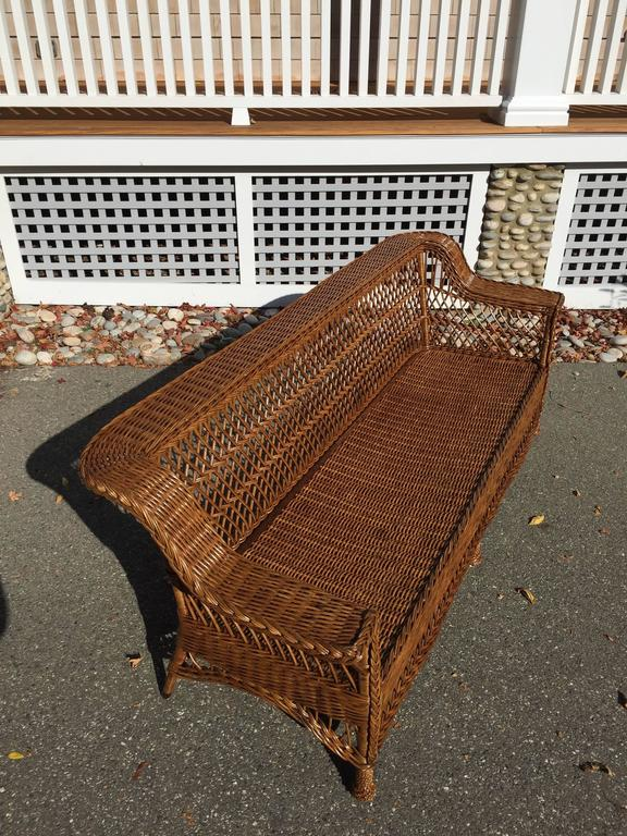 Antique Bar Harbor Wicker Sofa For Sale At 1stdibs