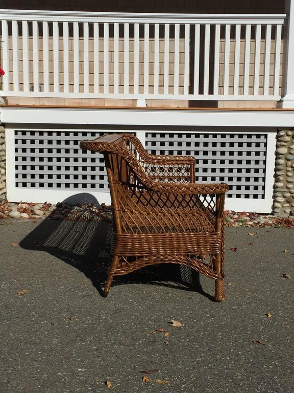 Antique Bar Harbor Wicker Sofa 2