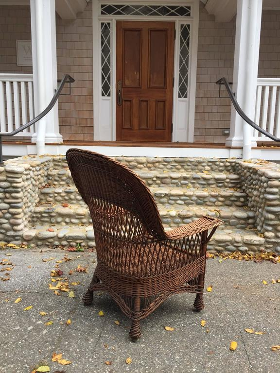 Antique Willow Wicker Chair At 1stdibs