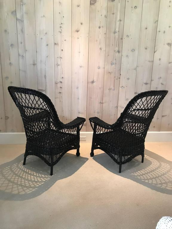 American Antique Wicker Chairs by Paine Furniture For Sale