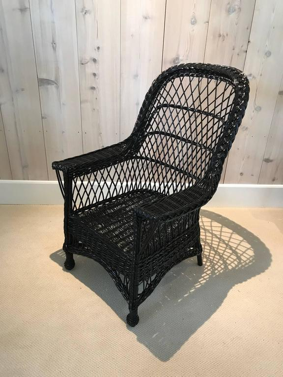 Early 20th Century Antique Wicker Chairs by Paine Furniture For Sale