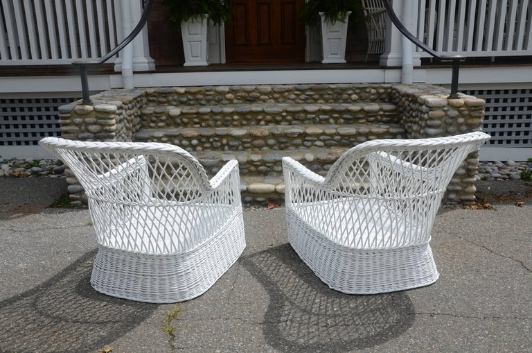 Antique Bar Harbor Willow Beach Or Lawn Chairs At 1stdibs