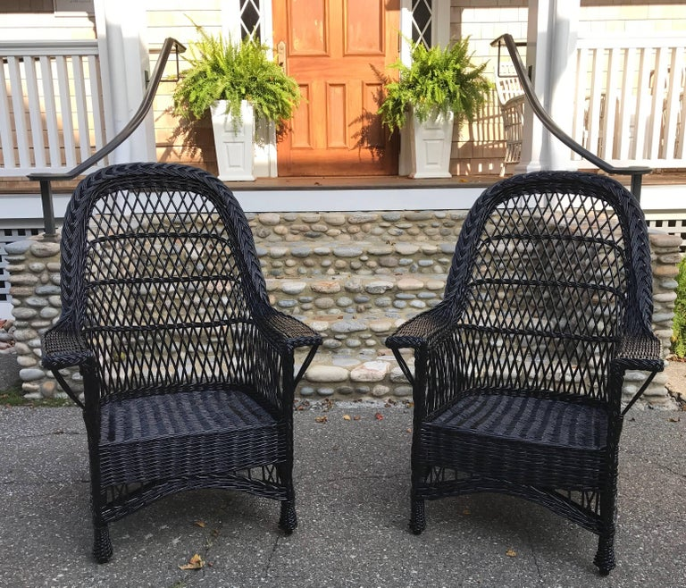 Antique Bar Harbor Willow Wicker Chairs For Sale At 1stdibs