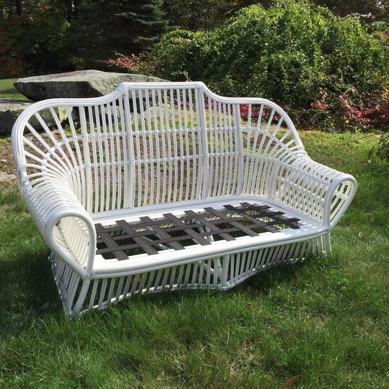 Vintage ficks reed rattan sofa for sale at 1stdibs for Wicker reed
