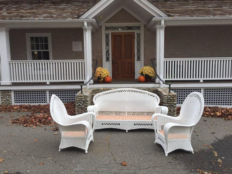 American Antique Wicker Parlor Set For Sale