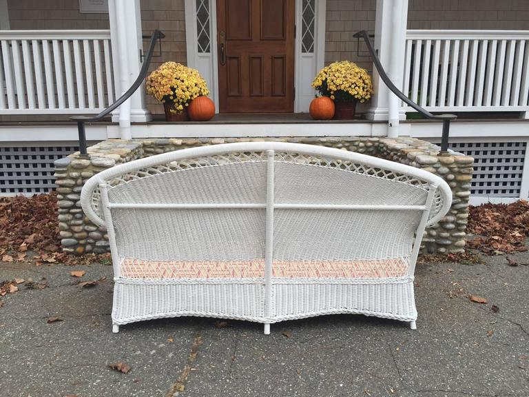 Early 20th Century Antique Wicker Parlor Set For Sale