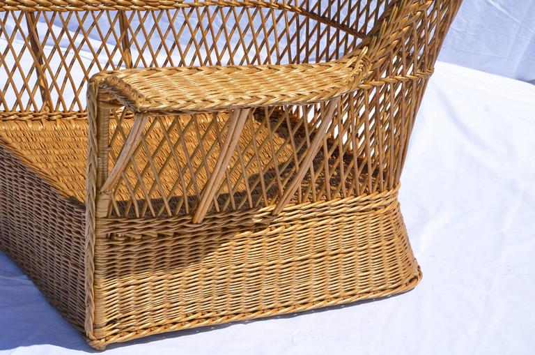 Early 20th Century McHugh Willow Armchair For Sale