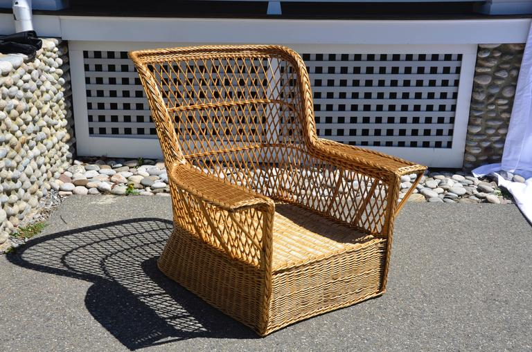 Exceptional and rare willow armchair by Joseph P. McHugh. This is a huge chair woven of beautiful willow shoots. This is a very special find.