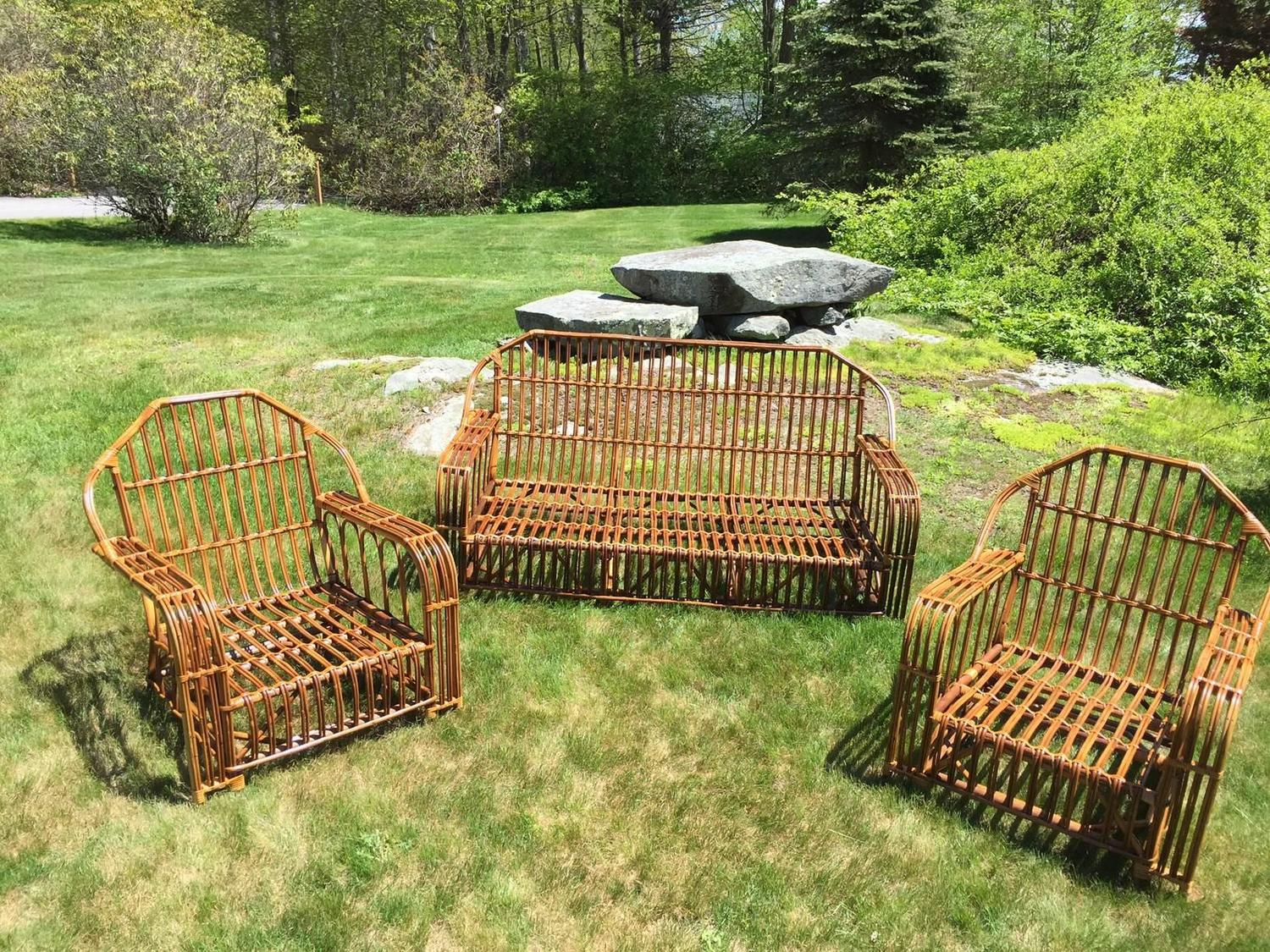 antique stick wicker and rattan set for sale at 1stdibs