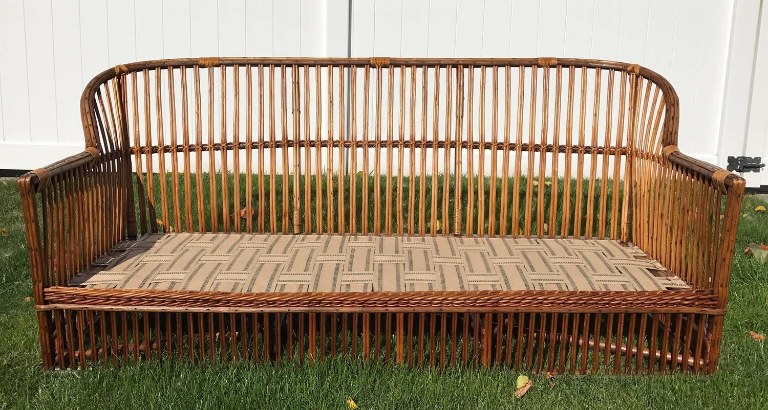 Antique Stick Wicker Sofa For Sale At 1stdibs