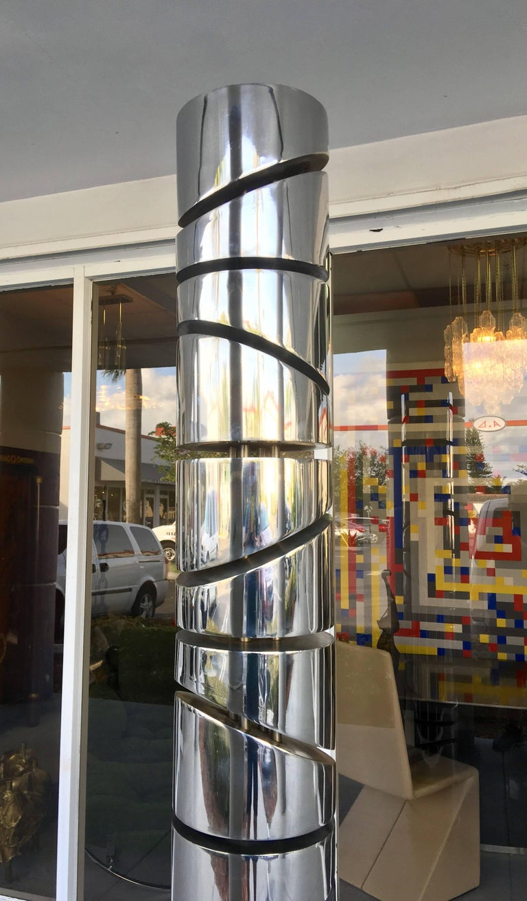 Itzhak Shmueli Unique Stainless Steel Tower Sculpture For Sale 1