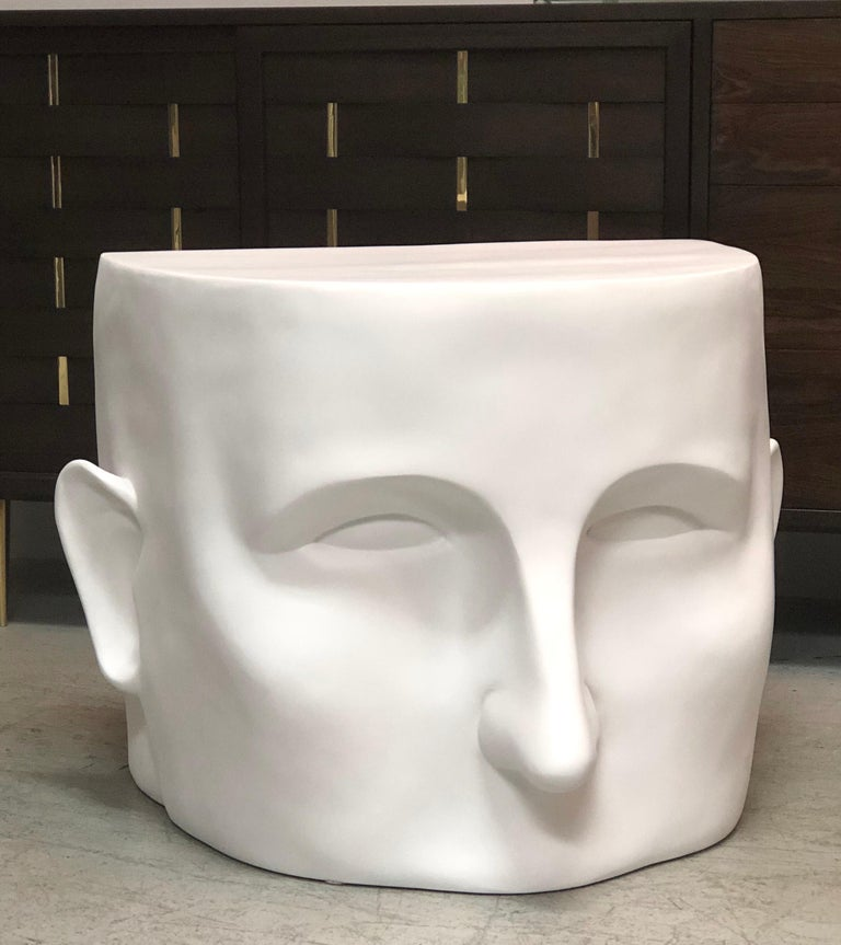 Sculptural Head Architectural Table Bench, 1980s In Good Condition For Sale In Miami, FL