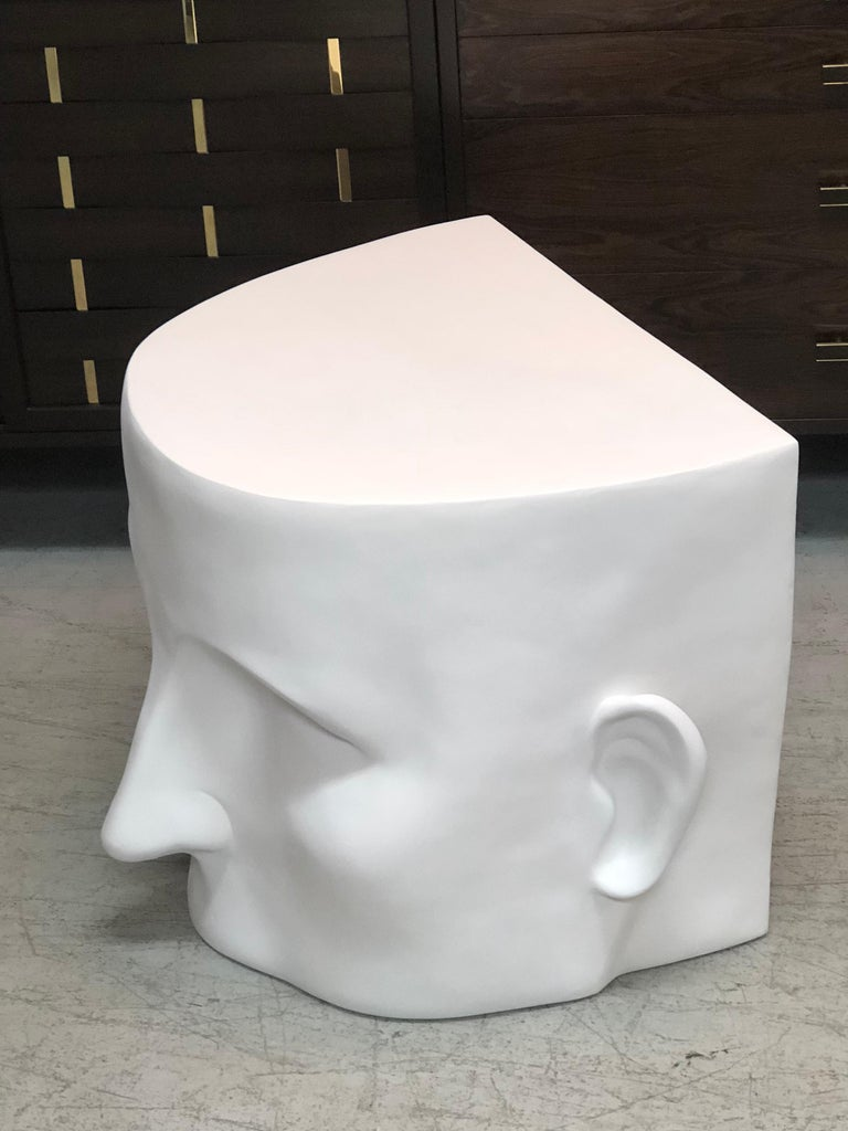 Late 20th Century Sculptural Head Architectural Table Bench, 1980s For Sale
