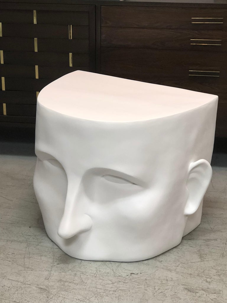 Sculptural Head Architectural Table Bench, 1980s For Sale 2