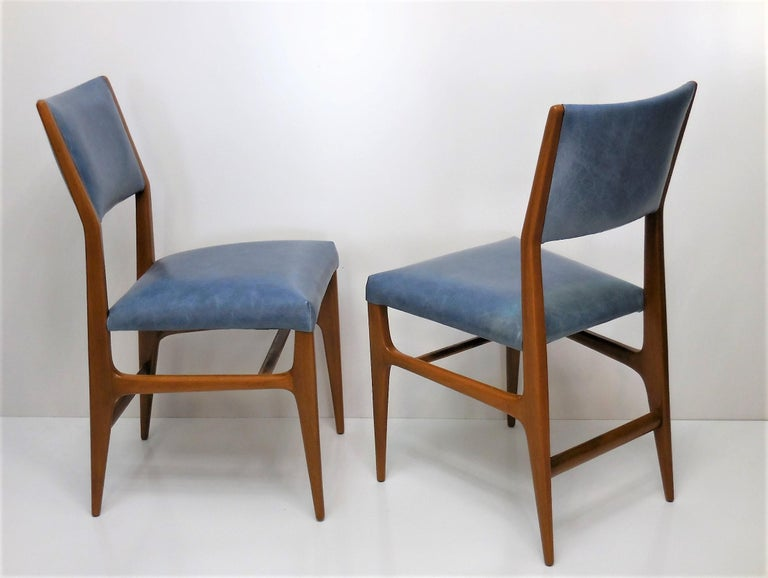 Italian Gio Ponti Dining Chairs for Singer and Sons, Set of Four For Sale
