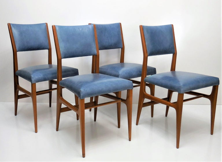 Gio Ponti Dining Chairs for Singer and Sons, Set of Four In Excellent Condition For Sale In Miami, FL