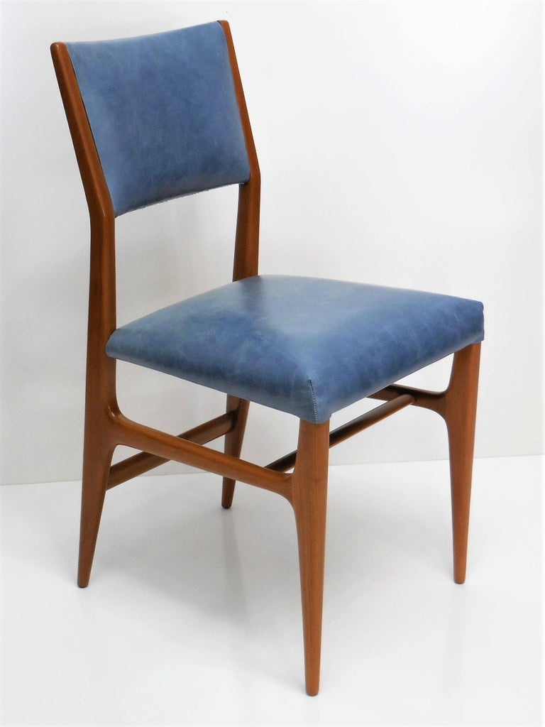Mid-20th Century Gio Ponti Dining Chairs for Singer and Sons, Set of Four For Sale