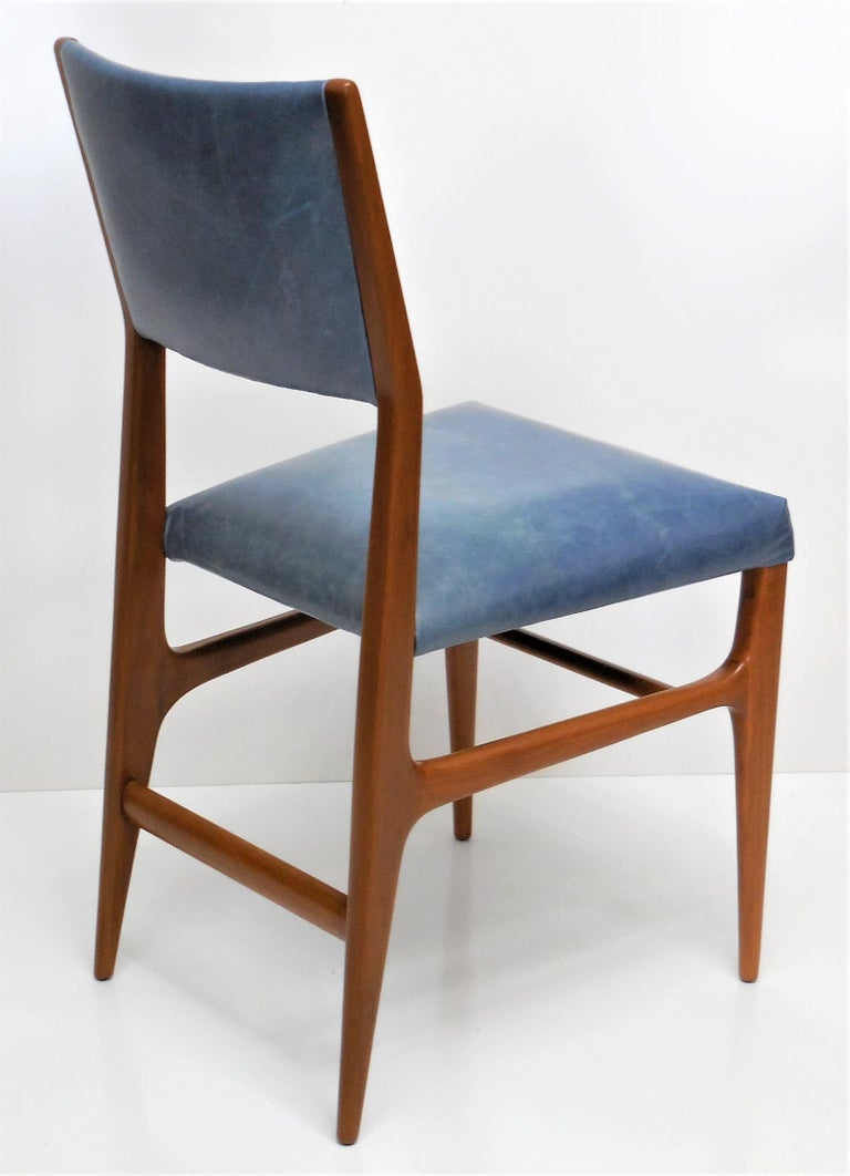Gio Ponti Dining Chairs for Singer and Sons, Set of Four For Sale 1