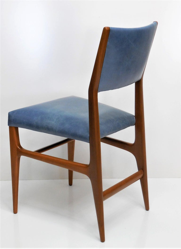 Gio Ponti Dining Chairs for Singer and Sons, Set of Four For Sale 2