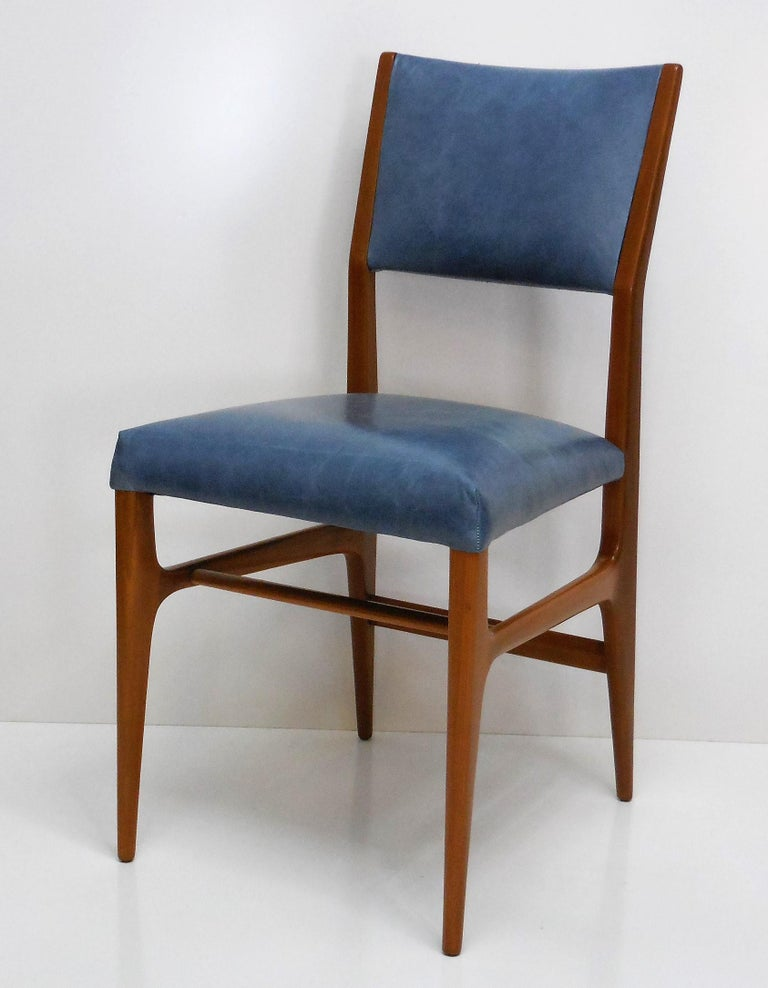 Gio Ponti Dining Chairs for Singer and Sons, Set of Four For Sale 3