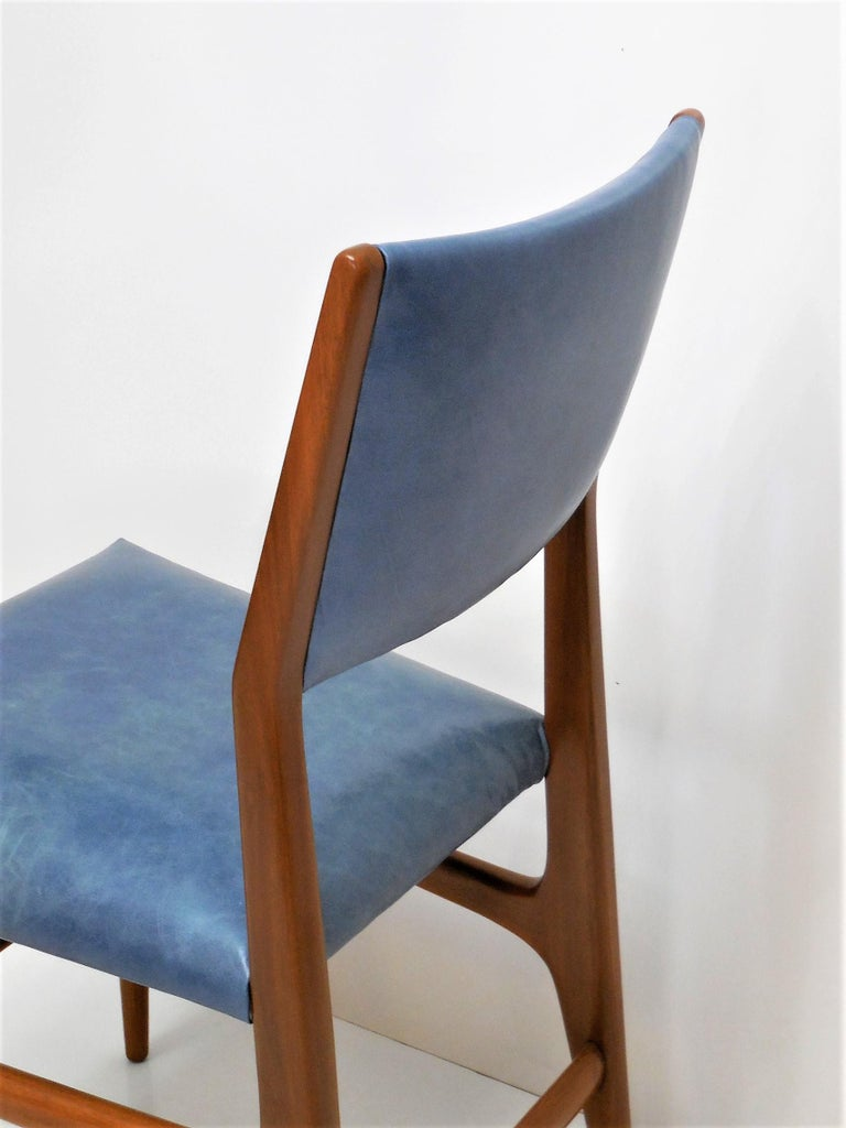 Gio Ponti Dining Chairs for Singer and Sons, Set of Four For Sale 4