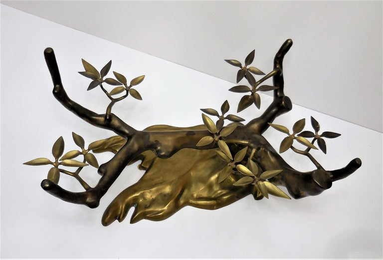 Willy Daro Brass Bonsai Tree Coffee Table, 1970s For Sale 1