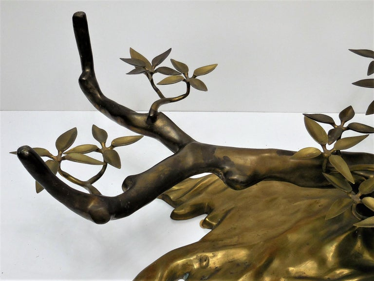 Willy Daro Brass Bonsai Tree Coffee Table, 1970s For Sale 4