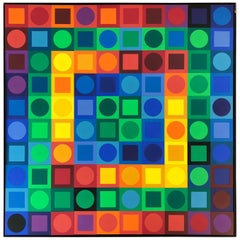 Vasarely Planetary Folklore Participation No 1 Op Art Puzzle, 1969