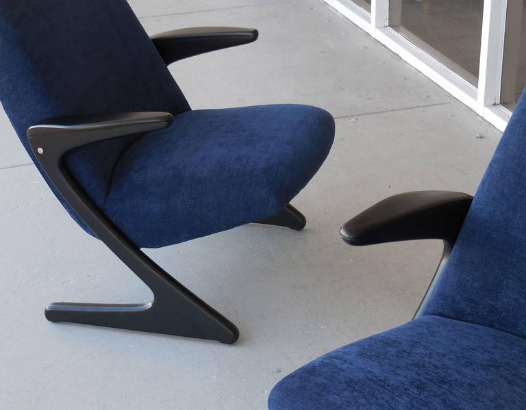 Pair Of Mid Century Cantilevered Chairs By Bengt Ruda For