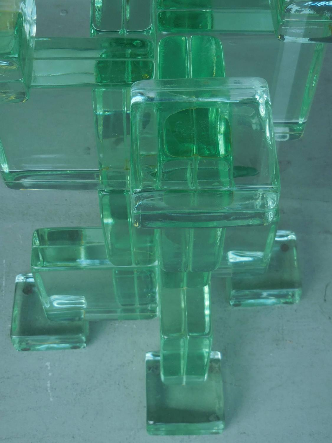 Glass Block Dining Table By Imperial Imagineering For Sale At 1stdibs