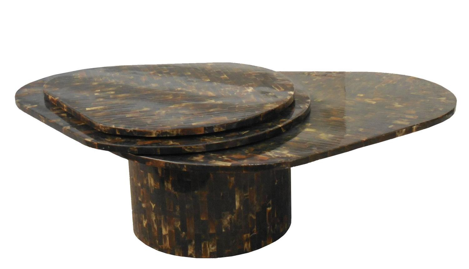Kinetic Three Tops Swivel Horn Coffee Table For Sale At 1stdibs