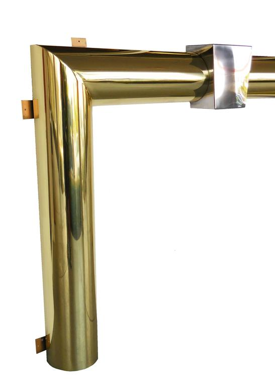 Danny Alessandro Brass And Stainless Steel Fireplace Surround For Sale At 1stdibs