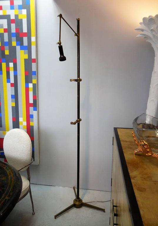 Italian Arredoluce Signed Easel Floor Lamp by Angelo Lelli, 1950s For Sale