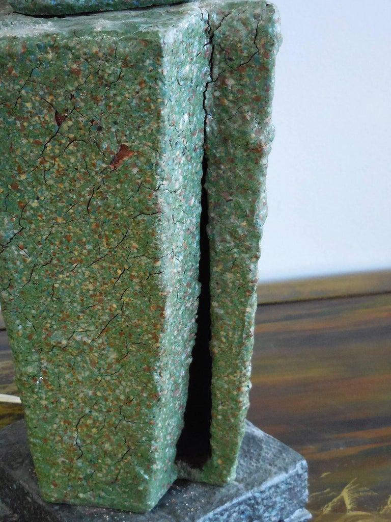 Sculptural Studio Pottery Ceramic Table Lamp, 1980s For Sale 1
