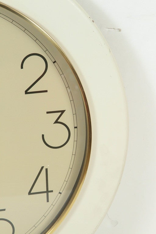 vintage howard miller wall clock at 1stdibs