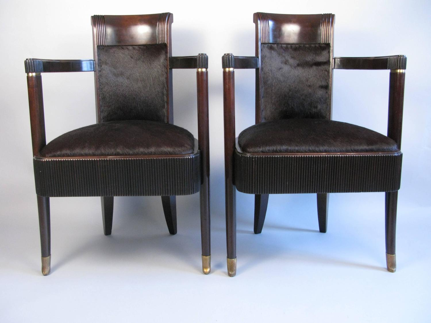 Pair Of Dining Chairs From The French Luxury Liner S S Normandie 1935 1942 For Sale At 1stdibs