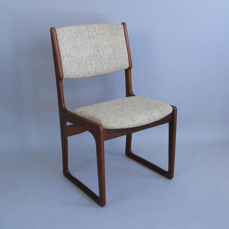 Set Of Six 1960s Danish Design Chairs By Benny Linden At