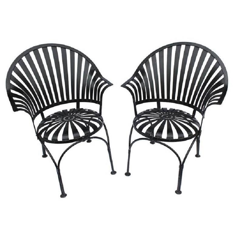 1930s french garden armchairs by carre at 1stdibs