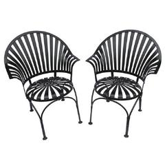 1930s French Garden Armchairs by Carre