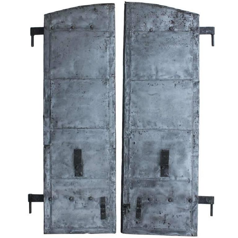 Antique Distillery Metal Shutters For Sale