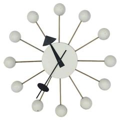 Vintage George Nelson White Ball Clock