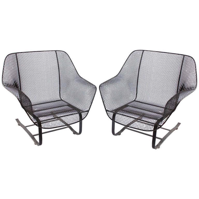 """Original 1950s """"Sculptura"""" Lounge Garden Chairs by Woodard"""