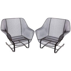"Original 1950s ""Sculptura"" Lounge Garden Chairs by Woodard"