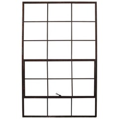 Large Antique American Industrial Metal Casement Window