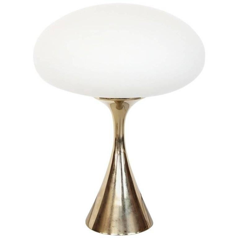 Mid-Century Mushroom Brass Lamp by Bill Curry for Laurel